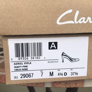 Clark's Adriel Viola Size 7 Dusty Pink Heels